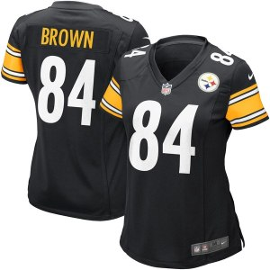 Women's Pittsburgh Steelers Antonio Brown Nike Black Game Jersey