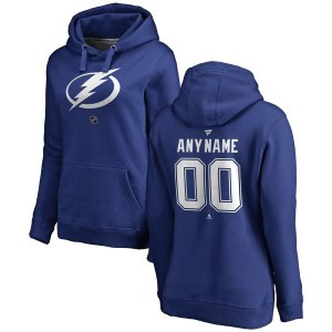 Women's Tampa Bay Lightning Fanatics Branded Blue Personalized Team Authentic Pullover Hoodie