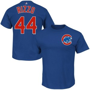 Men's Chicago Cubs Anthony Rizzo Majestic Royal Big & Tall Official Player T-Shirt