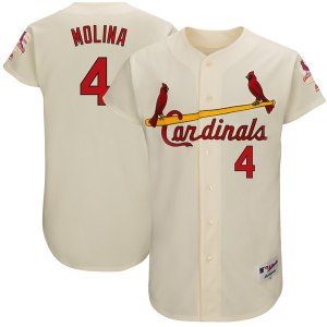 Men's St. Louis Cardinals Yadier Molina Majestic Cream 1967 Turn Back the Clock Authentic Player Jersey