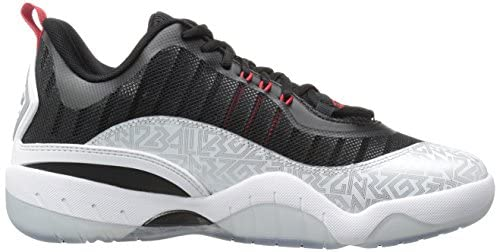 AND 1 Men's Vertical Basketball Shoe, Silver/Black/Red, 9.5 M US Mobile, Alabama
