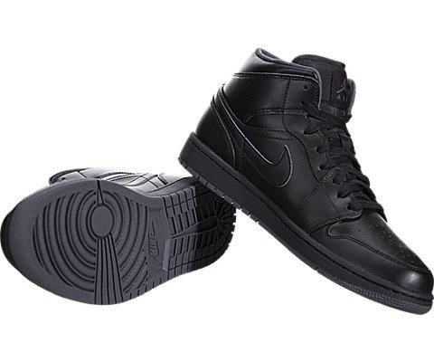 Nike Men's Air Jordan 1 Mid Black/Black/Dark Grey Basketball Shoe – 10 D(M) US Grand Prairie, Texas 2019