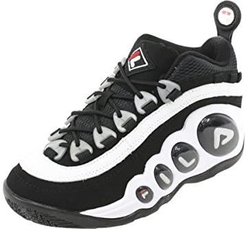 Fila Men's Bubbles Hightop White/Black/Red Basketball Shoes Glendale, California
