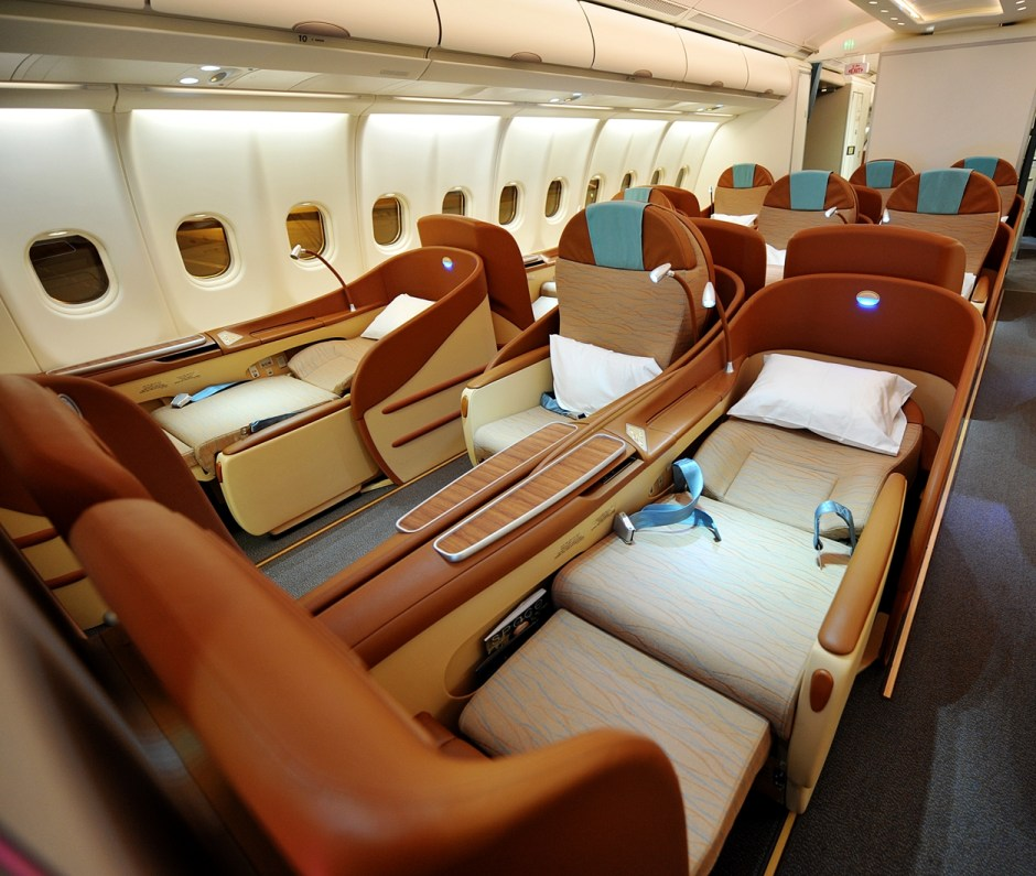 Image result for first class flight seats