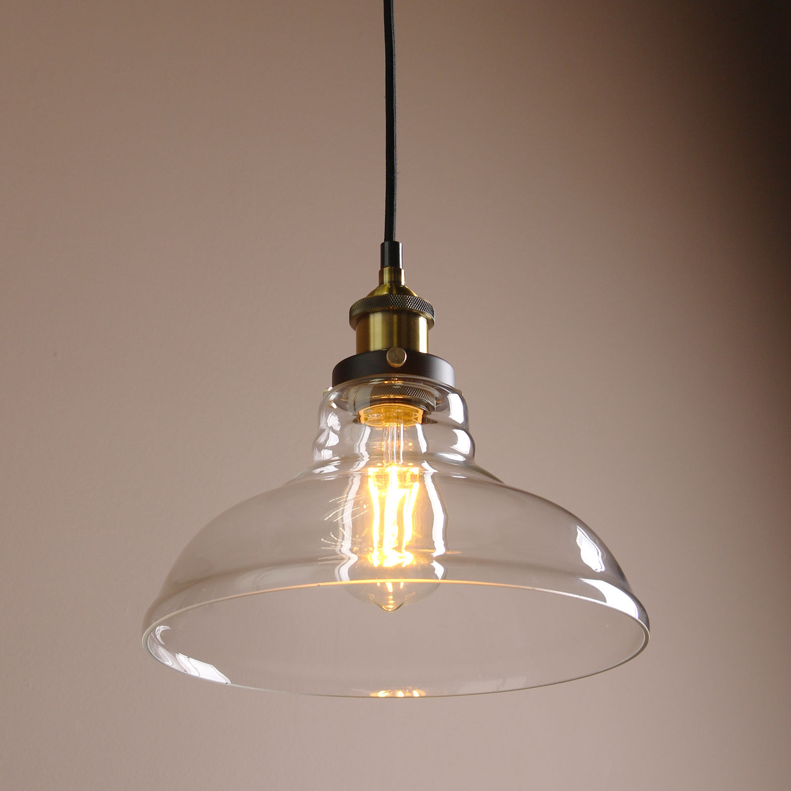 Permo Pendant Light Chandelier Vintage Industrial Clear