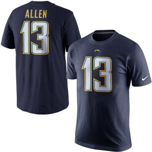 Men's Los Angeles Chargers Keenan Allen Nike Navy Blue Player Name & Number T-Shirt