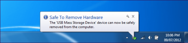 "click on the ""Safely Remove Hardware"""