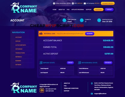 hyip template nulled