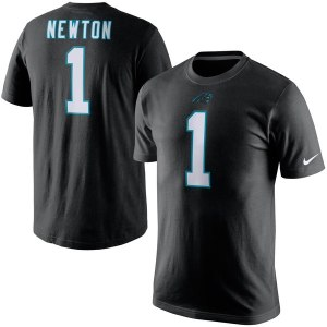 Men's Carolina Panthers Cam Newton Nike Player Pride Name & Number T-Shirt - Black