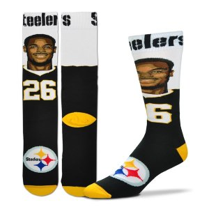 Youth Pittsburgh Steelers Le'Veon Bell For Bare Feet Selfie Socks