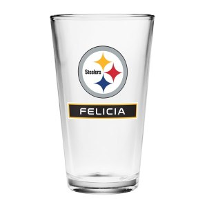 Pittsburgh Steelers Personalized 16oz Full Color Pint Glass
