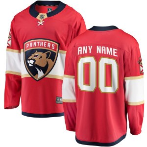 Youth Florida Panthers Fanatics Branded Red Home Breakaway Custom Jersey