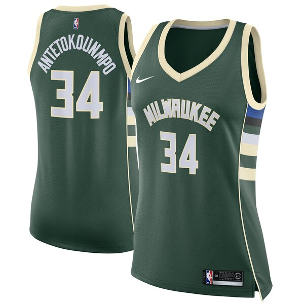 cf1a69620 Women's Milwaukee Bucks Giannis Antetokounmpo Nike cheap 76ers jersey womens