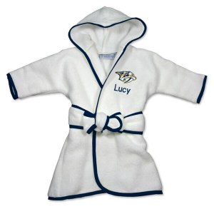 Infant Nashville Predators White Personalized Robe wholesale Viktor Arvidsson jersey