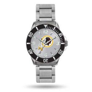 Men's Washington Redskins Sparo Silver Personalized Key Bracelet Quartz Watch