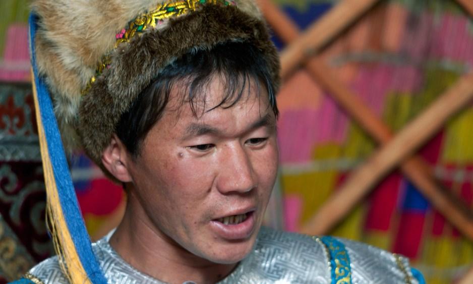 a mongolian throat singer