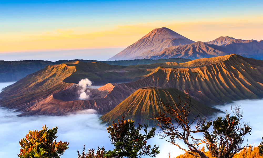 fun places to go visit in 2020: Bromo volcano at sunrise