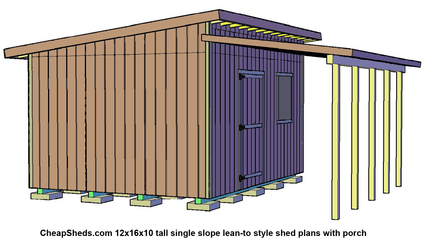 Lean to style sheds for Lean to barn