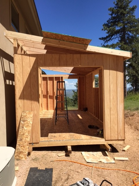 Lean To Single Sloped Style Shed Photos