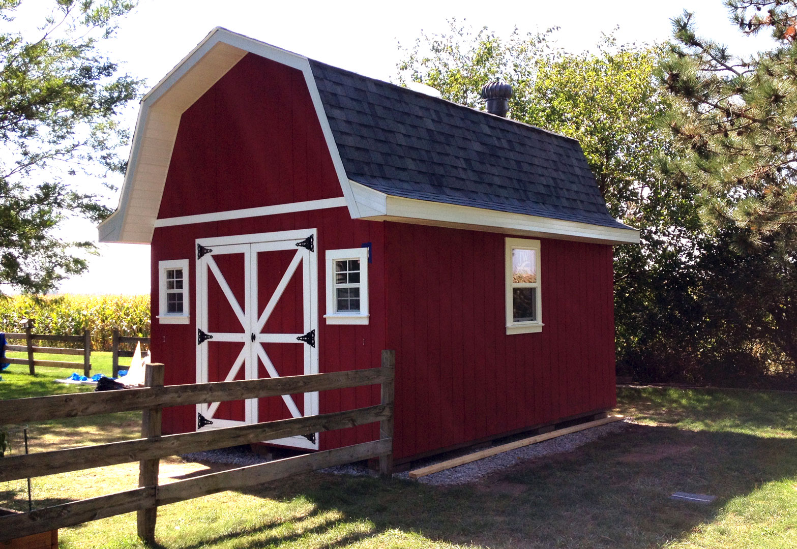 12×16 Tall Barn Style Gambrel Roof Shed Plans