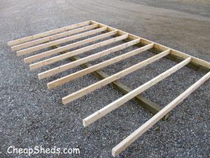 Step 2 How To Build A Shed Floor Cheapsheds Com