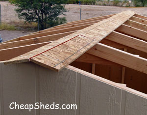 storage shed roof sheeting