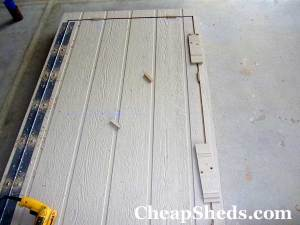 bicycle shed plans door brace