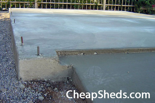 Build your shed on a concrete slab for Concrete slab house plans