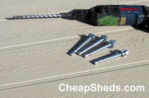 Build Your Shed On A Concrete Slab | CheapSheds com