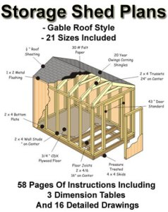 My shed plan are only $7.95 and include 21 different sizes.