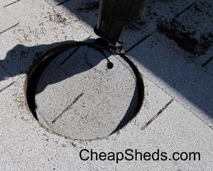 install roof turbine vent