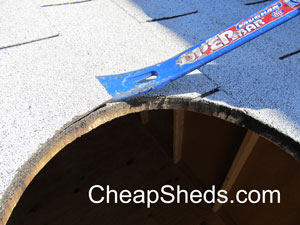 loosen shingles shed roof vent