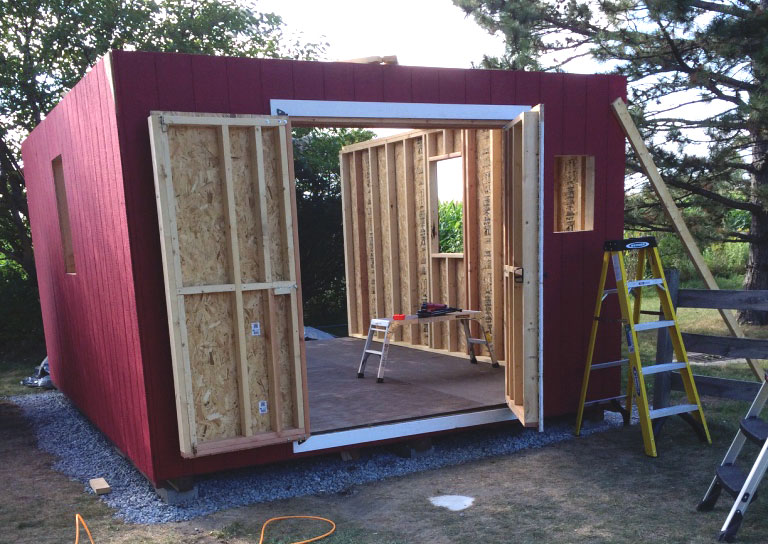 Sstorage Shed Double Door Framing