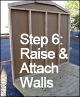 Step 6: Raise & Attach Walls