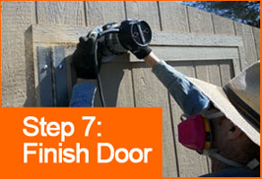 Step 7: Finish Door