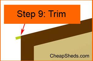 Step 9: Trim