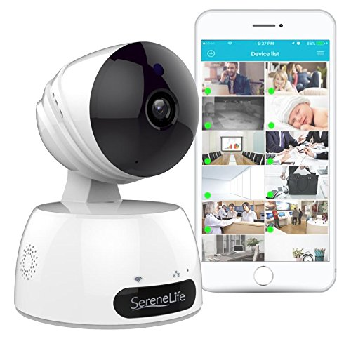 Indoor Wireless IP Camera - HD 7200p Network Security Surveillance Home  Monitoring Featuring Motion Detection, Night Vision, PTZ, 2 Way Audio,  iPhone