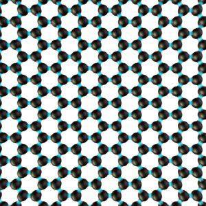 carbon atom arrangement in a graphene film