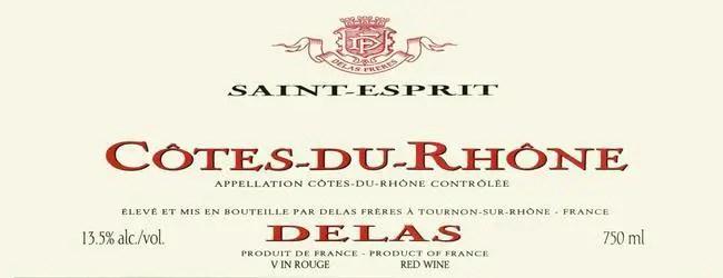 Delas Cotes du Rhone Saint Esprit Rouge 2015