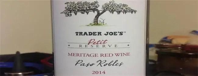 Trader Joe's Petit Reserve Paso Robles Meritage 2014