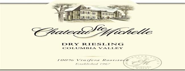 Chateau Ste Michelle Dry Riesling 2016