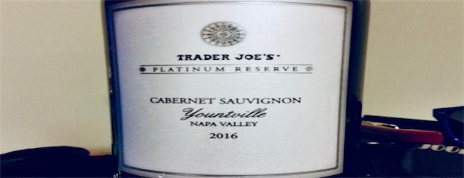 Trader Joe's Platinum Reserve Yountville Napa Valley Cabernet Sauvignon 2016