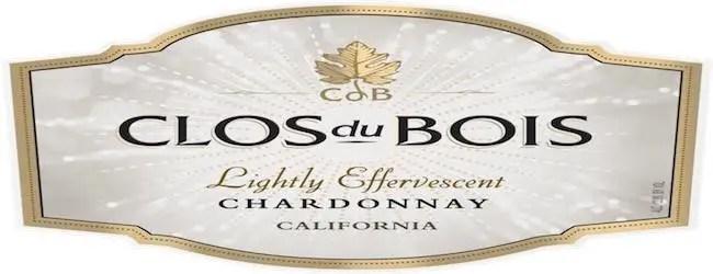 Clos du Bois Lightly Effervescent  Chardonnay 2016