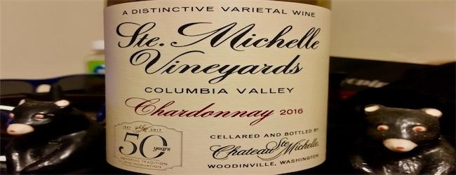 Ste Michelle Vineyards Columbia Valley Chardonnay 2016