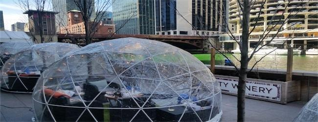 City Winery Chicago Riverwalk River Domes