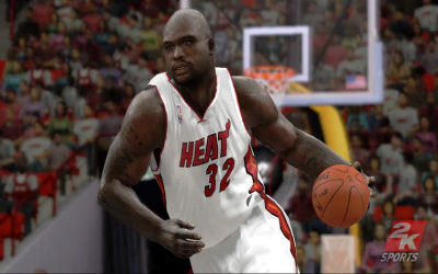 Video game Shaq now with real sweat!