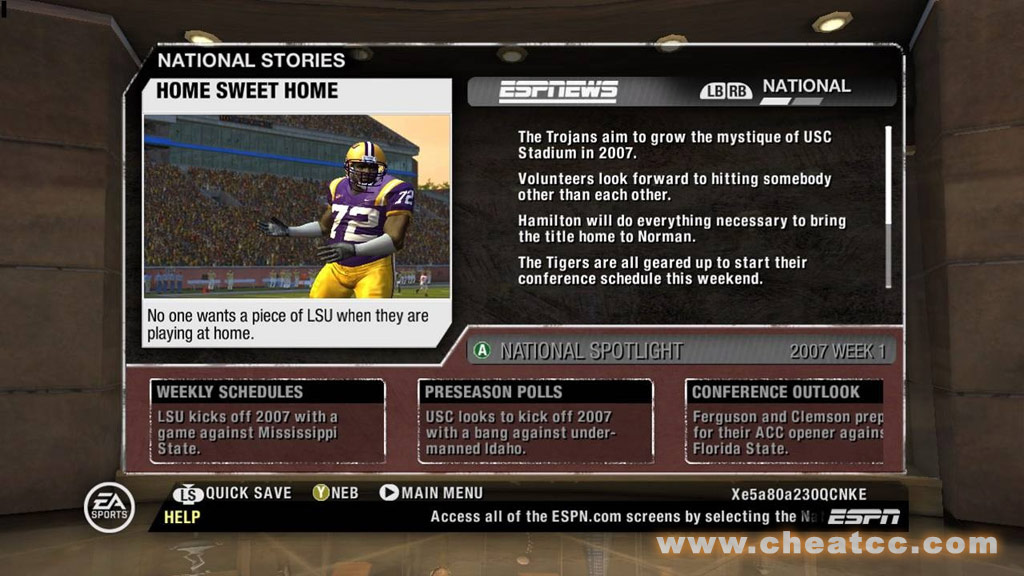 Ncaa Football 08 Review For Xbox 360 X360