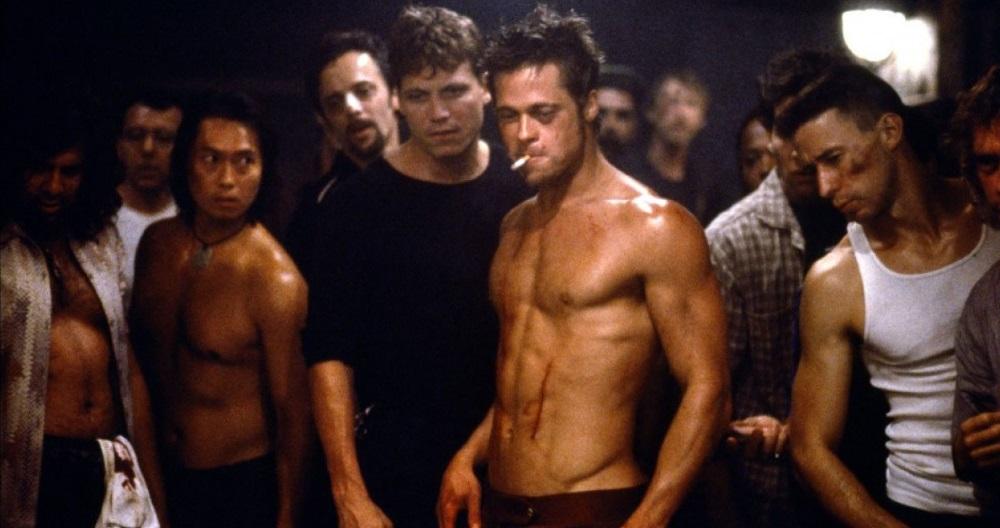 Brad Pitt as Tyler Durden in Fight Club