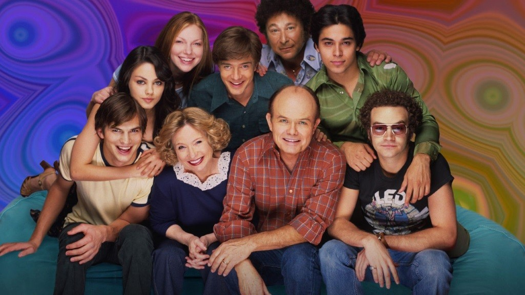 The show of That '70s Show is tied together with a psychedelic background