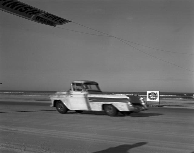 1957 Chevrolet Cameo Carrier racing
